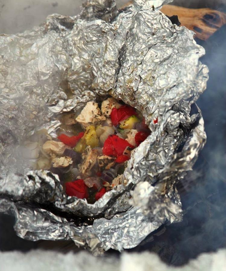 Turmat på hytta - bålpakke med kylling