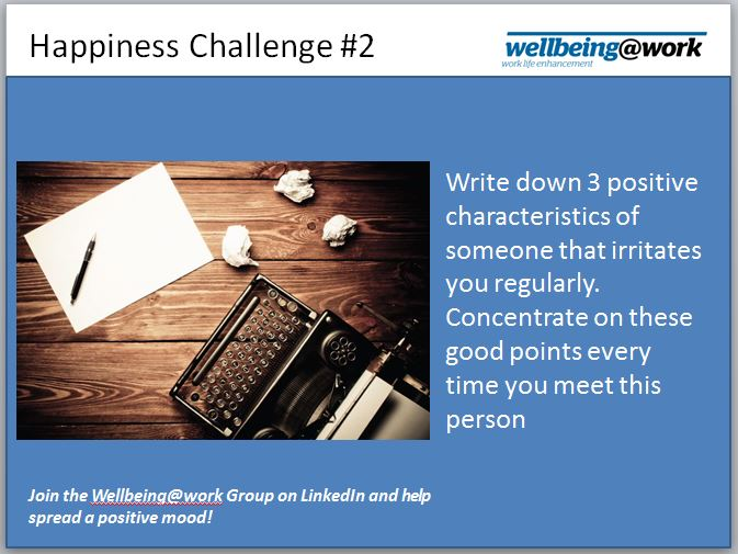 Happiness Challenge #2 - Think Positive Thoughts