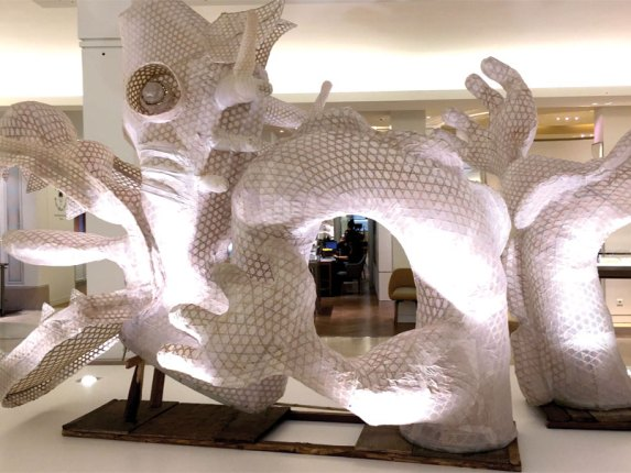 Ai Weiwei's Dragon in Four Parts at Le Bon Marché.