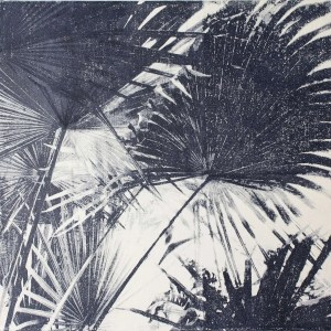 Jungle Kew Blue III handmade print