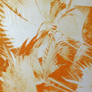 Tropical thoughts print orange