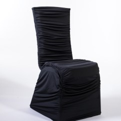Ruched Spandex Chair Cover Beach And Umbrella Set Marianne S Rentals Black