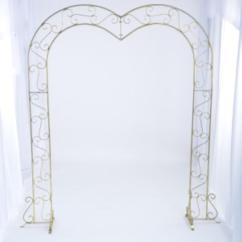 Acrylic Folding Chairs Diy Wooden Rocking Chair Cushions Marianne's Rentals - Heart Arch: Brass