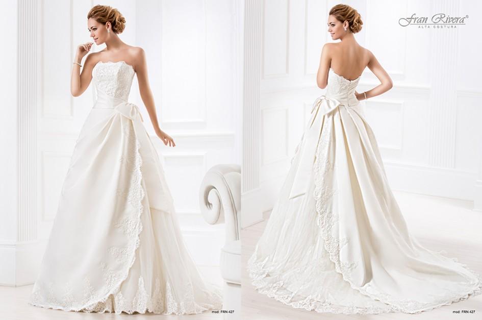 Vestido de novia con espalda descubierta, elegante y moderna ...