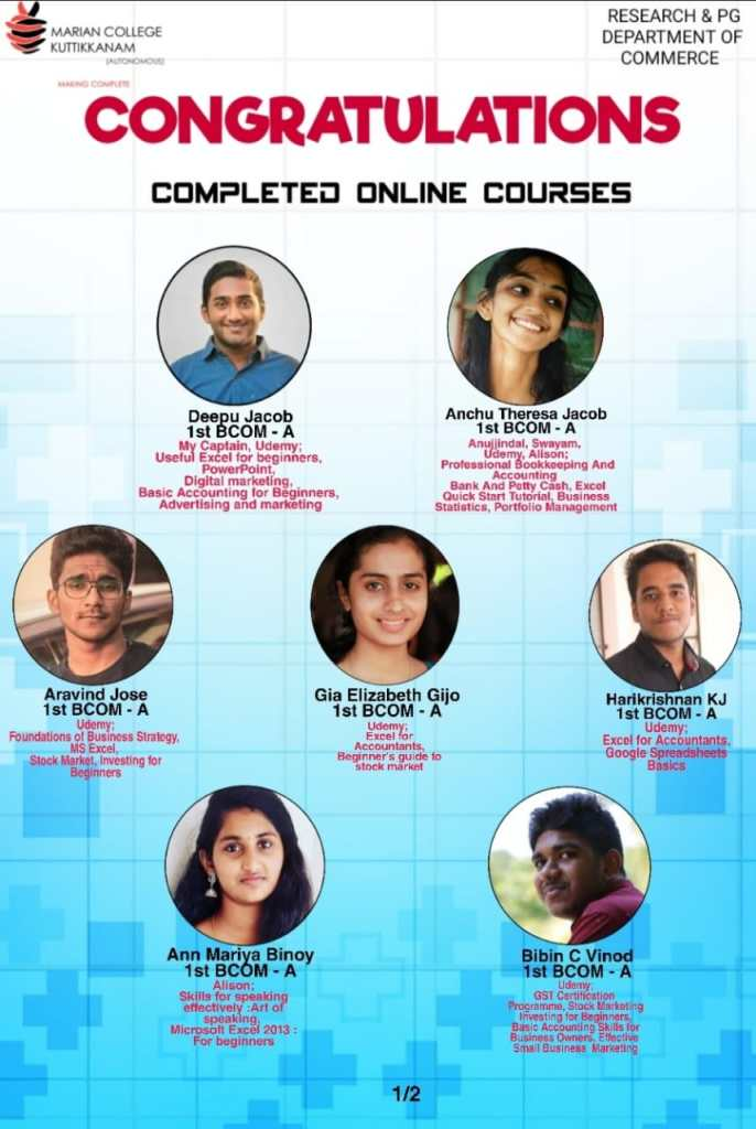 Completed Online Course 2020