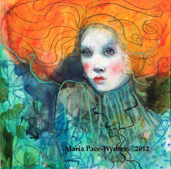 Redhead Portrait Art Paintings