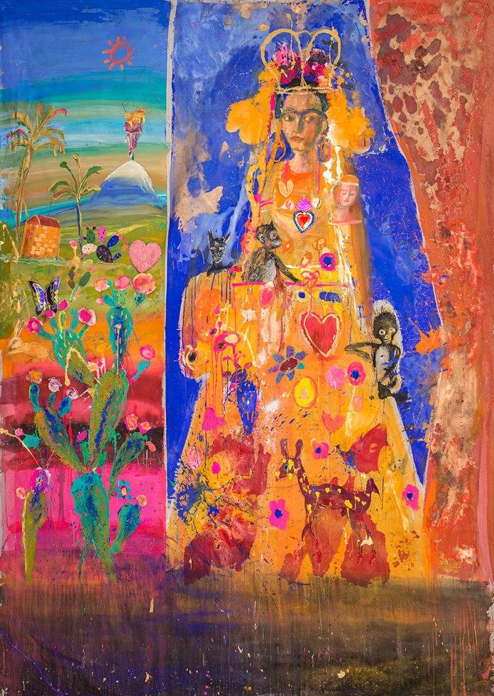 La Juquila II o Santa Frida - Acrilico y técnica mixta sobre tela - 260 x 196 cm - 2015