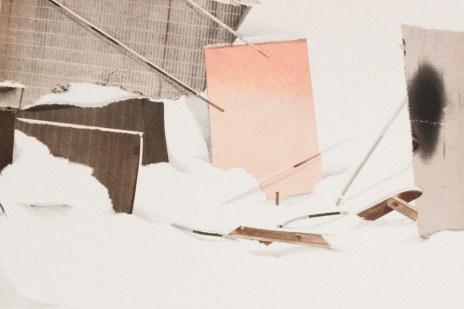 Sin título #1. Collage, acuarela y lapiz. 50x37cm