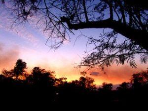 небо вечером