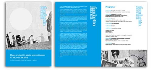Diseño de folleto para las joranadas