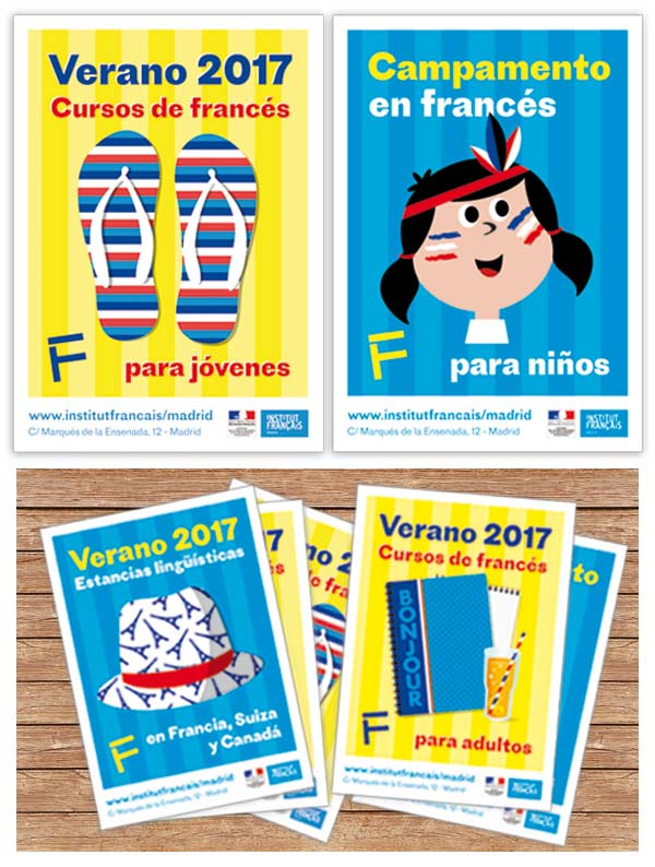Advertising, posters and cards. Summer 2017