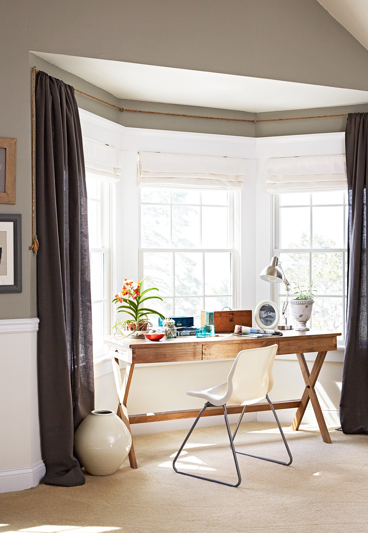 12 stunning bay window treatments you need to see with Curtain And Shades