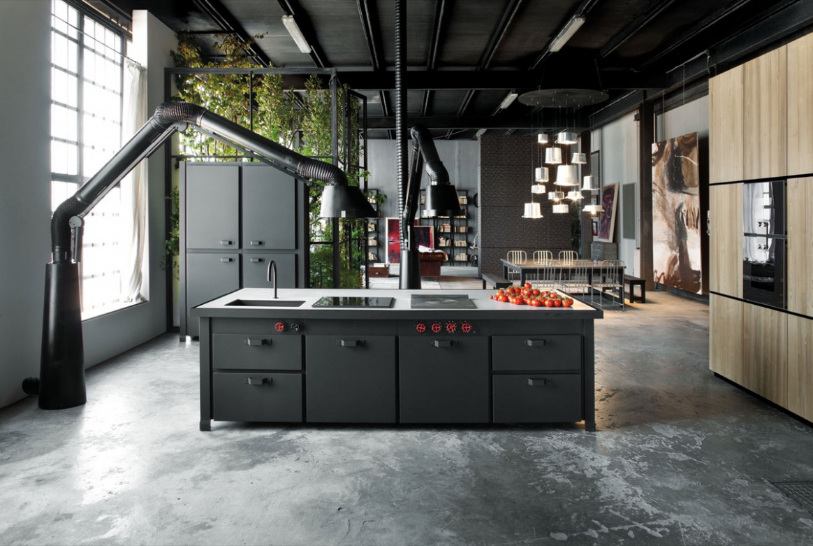 22 Industrial Style Kitchens That Will Make You Fall In Love