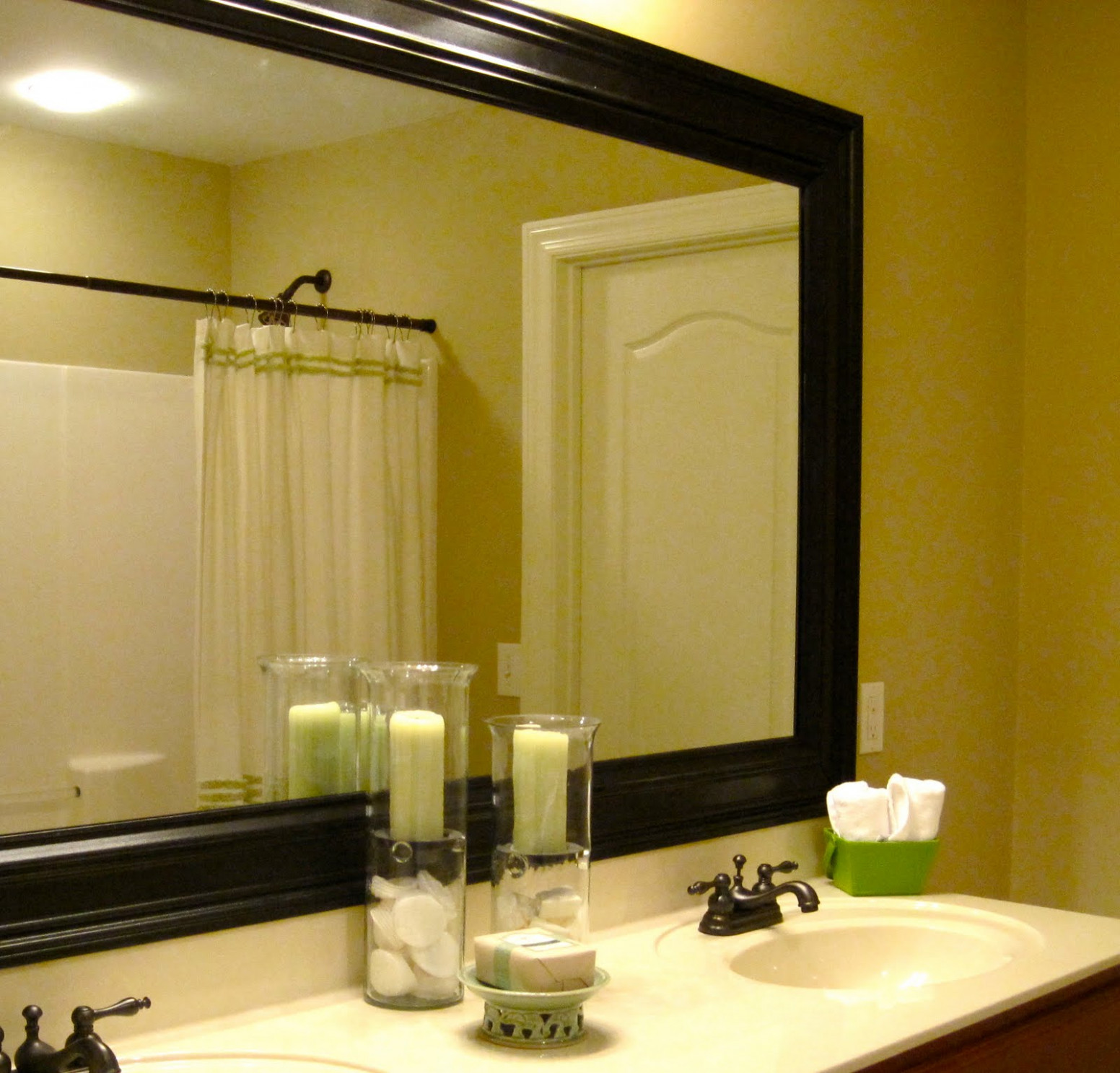 Adorable Diy Bathroom Mirror Frame — The New Way Home Decor : Framed ...
