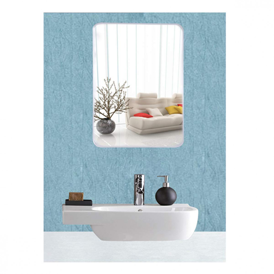 Buy Frameless Mirror | Mirror Glass for Wall | Mirror for Bathroom ...