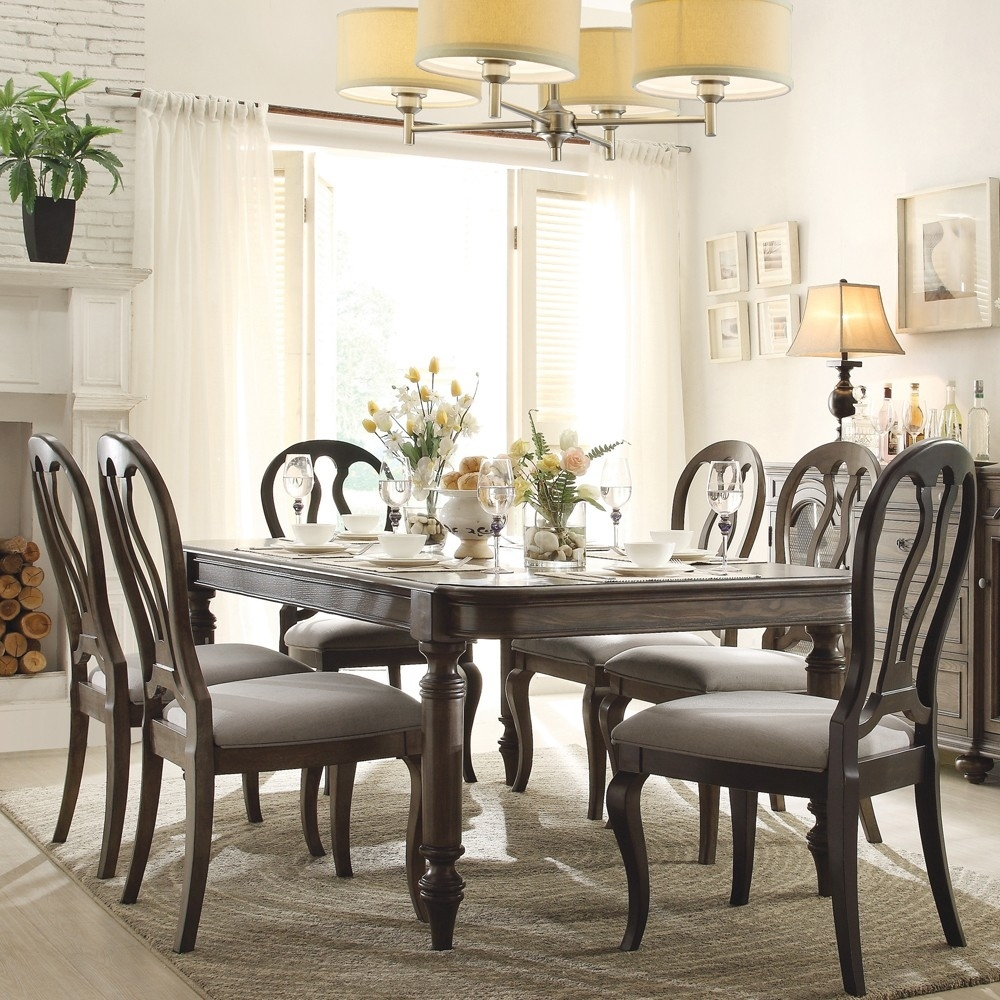 classic french country style dining room sets with 8 white ladder pertaining to Classic French Country Dining Room Furniture