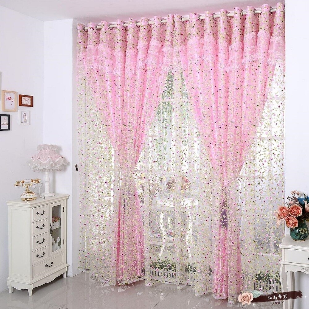 korean window curtains set for living room romantic lace curtains for Romantic Lace Curtains