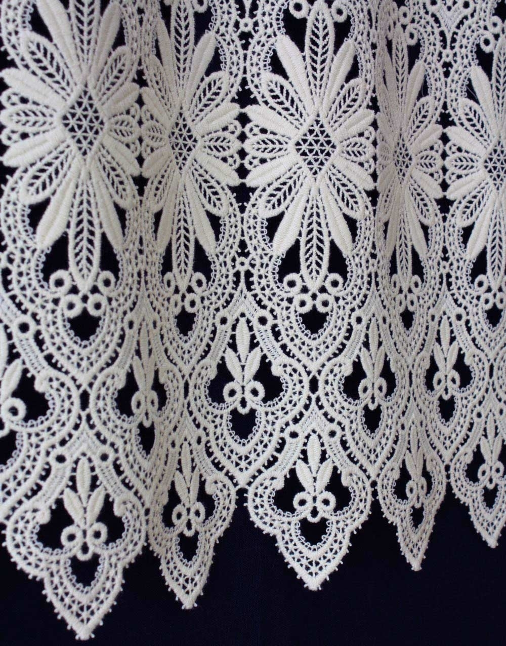 macrame lace cafe curtain & valance curtain with Macrame Lace Designs