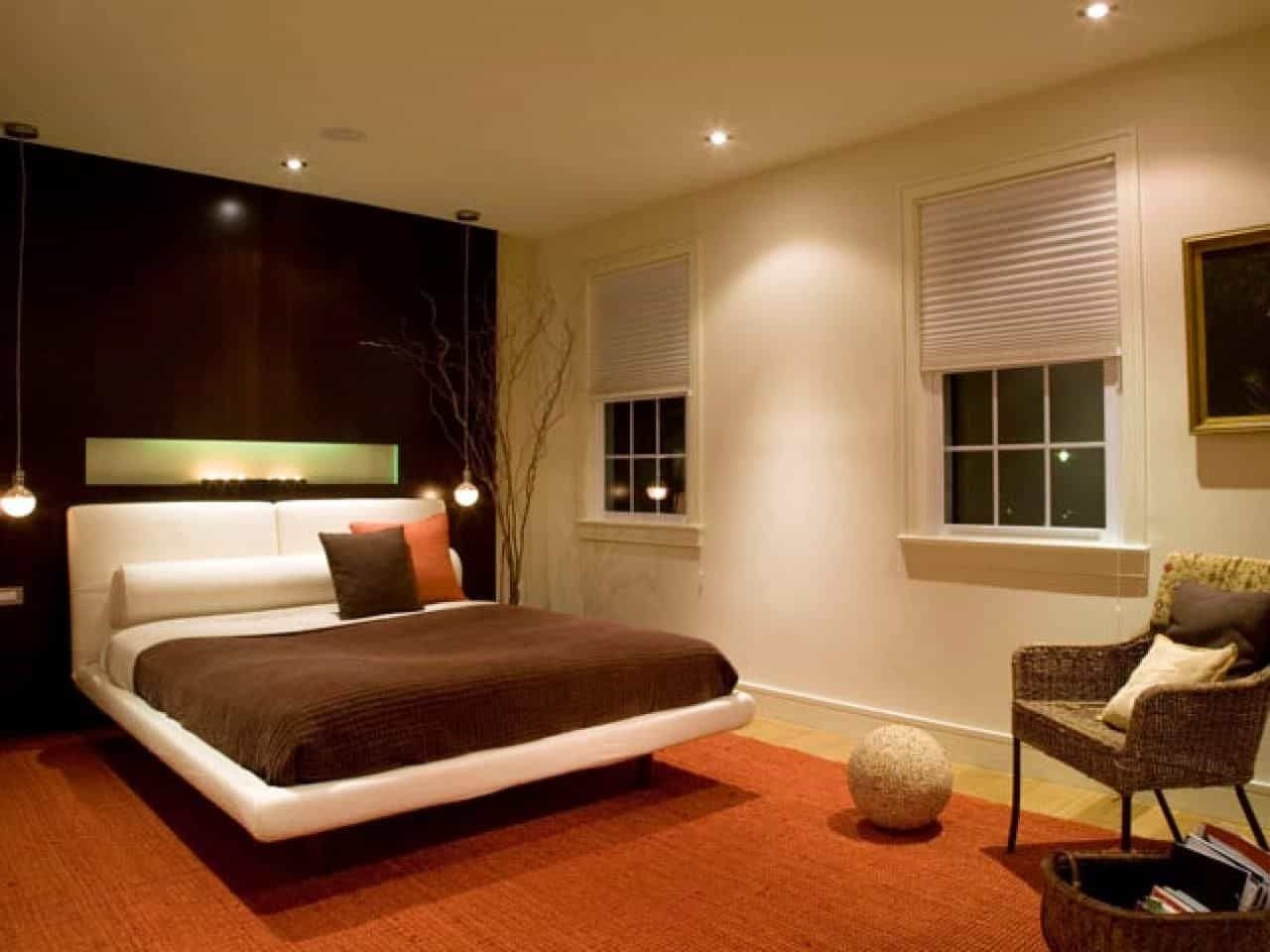 Modern Bedroom Furnished With Floating Bed And Illuminated With with regard to How to Decorate Modern Bedroom with Lighting Design Ideas - modern bedroom with lighting