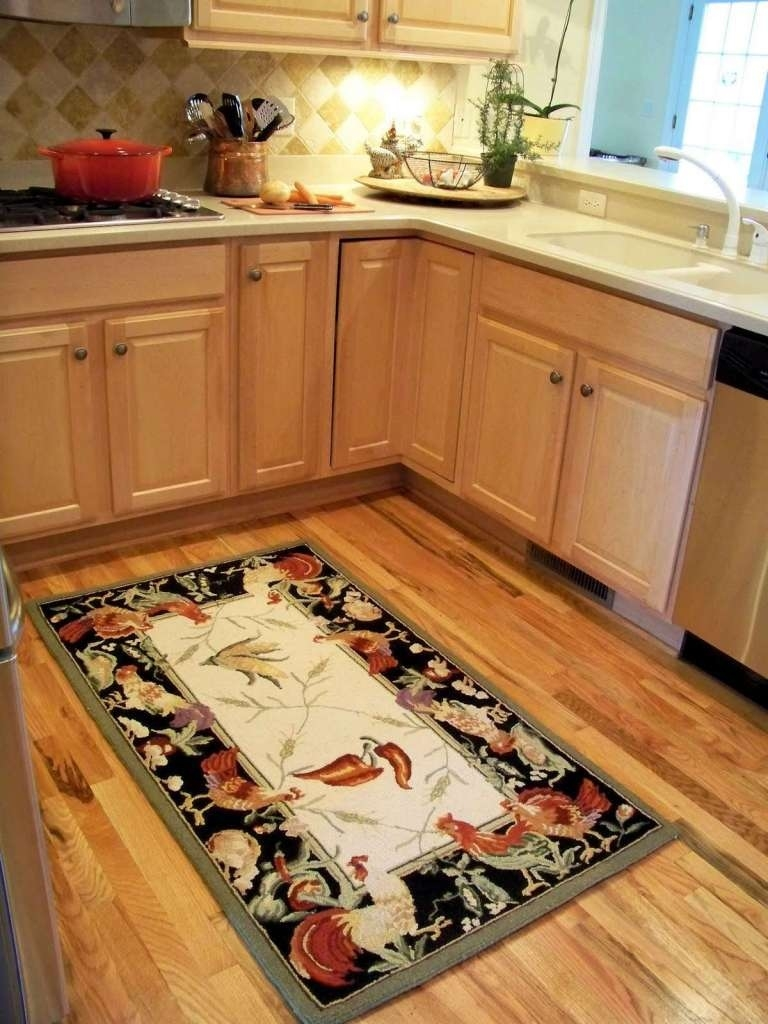 unique rooster kitchen rugs | homesfeed pertaining to Rooster Country Kitchen