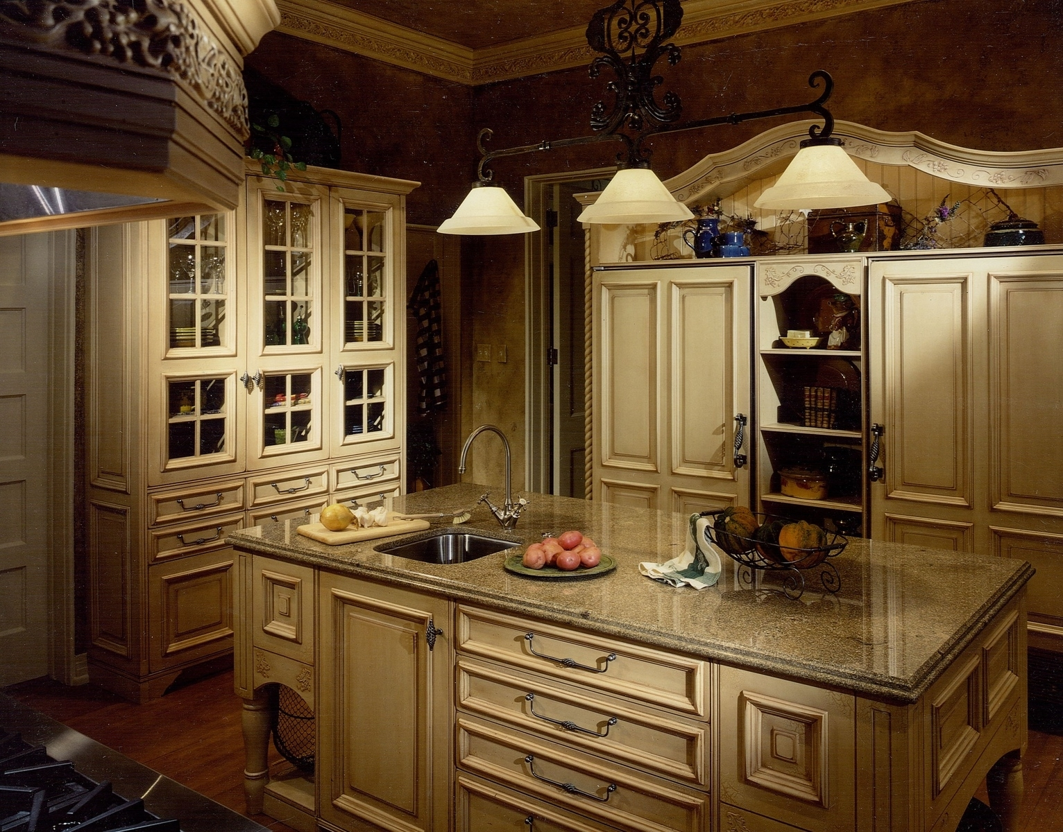 designing the kitchen with french country kitchen design - video and regarding Colorful and Inviting French Country Decor