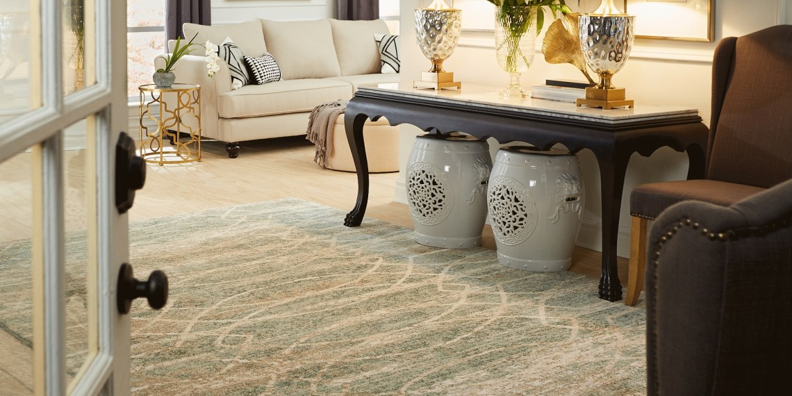 how to choose the right size and style for your area rug | karastan throughout How To Choose The Appropriate Carpet