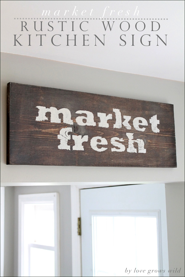 how to create distressed signs - love grows wild with Decorate With Primitive Signs