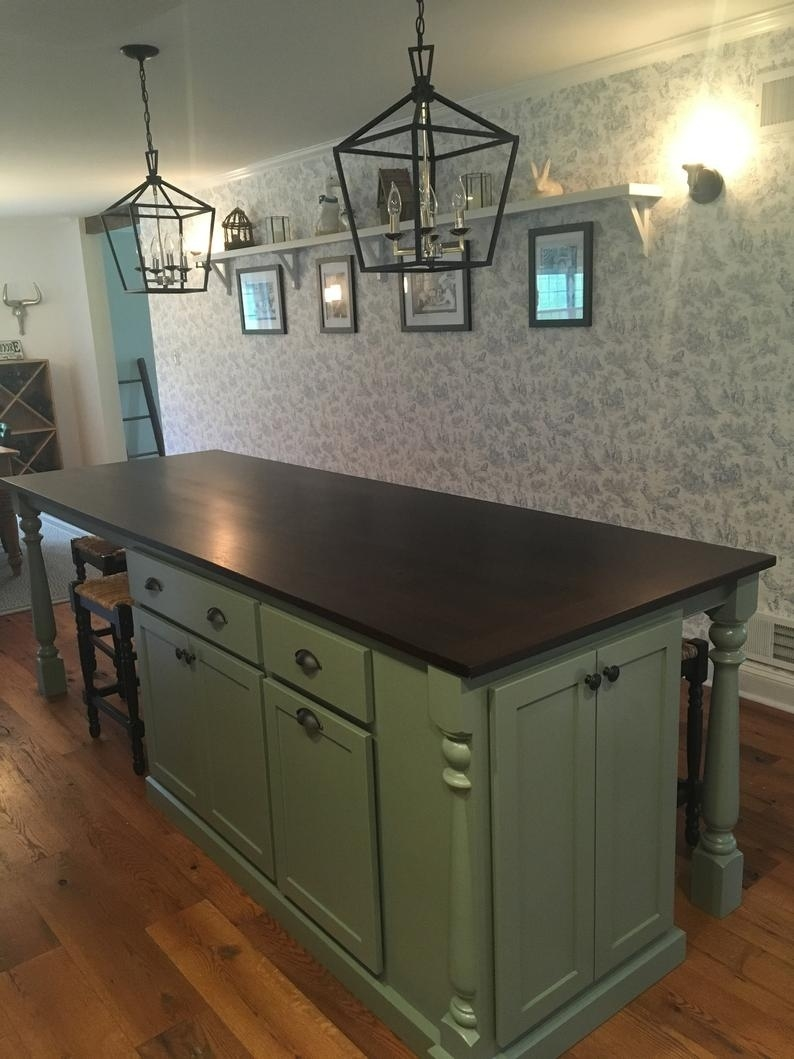 item #112 kitchen island with seating, table island custom, kitchen island intended for Custom Designed Kitchen Islands