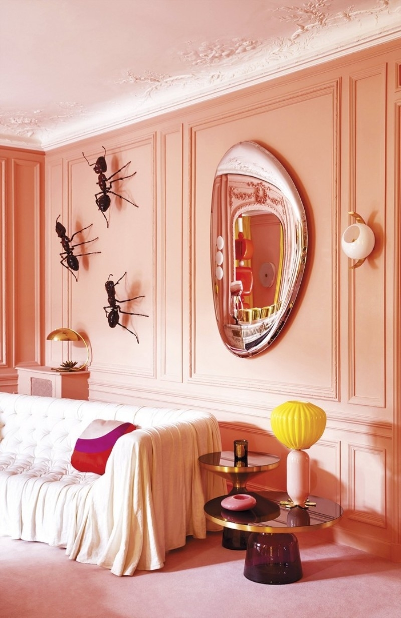 luxury home: living room decor 2019 trends intended for Pink Home Decor