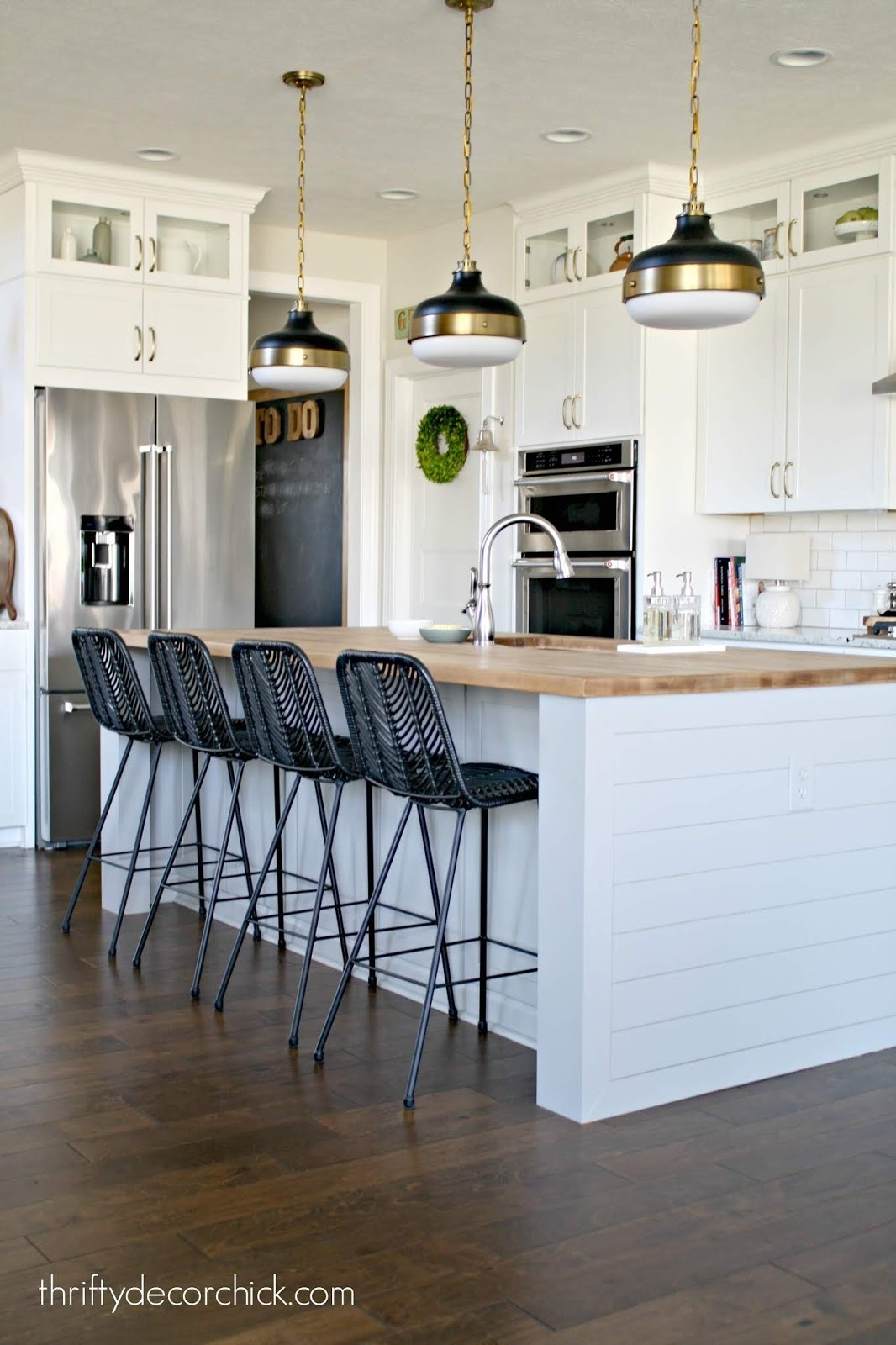 pretty kitchen island transformation (for less than $100!) from for Custom Designed Kitchen Islands