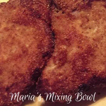 """""""Breaded"""" Pork Chops ~ Low Carb"""