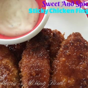 Sweet And Spicy Sticky Chicken Fingers