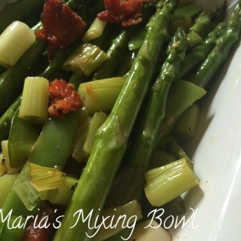 Asparagus with Sun Dried Tomato and Scallion