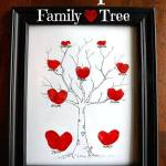 HEART THUMBPRINT FAMILY TREE