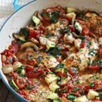 Italian Chicken Mushroom and Zucchini Skillet