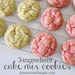 3-INGREDIENT CAKE MIX COOKIES