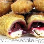 CHERRY CHEESECAKE EGG ROLLS