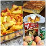 Peach Cobbler!! ( Super Easy 4 Ingredients)