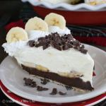Fudge Bottom Banana Cream Pie