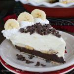 Fudge Bottom Banana Cream Pie