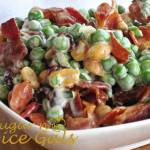 CRUNCHY BACON PEA SALAD