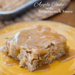 APPLE CAKE WITH  BUTTERSCOTCH SAUCE