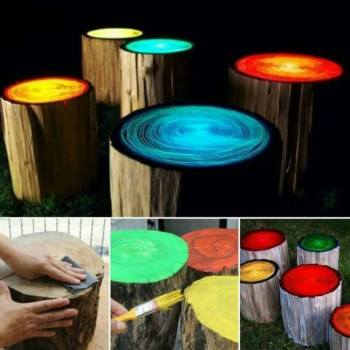 GLOW IN THE DARK CAMPFIRE STOOLS
