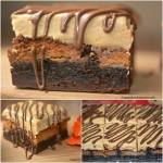 REESES STUFFED BROWNIE AND PEANUT BUTTER FROSTING