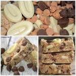 NO BAKE WHITE CHOCOLATE & PEANUT BUTTER CUP CANDY BARS