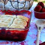 STRAWBERRY BISCUIT COBBLER