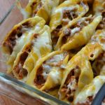 TRIPLE CHEESE BARBECUE PORK STUFFED SHELLS
