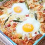CARMALIZED ONION AND ASPARAGUS STRATA