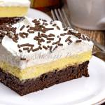 TRIPLE LAYER COCONUT CREAM BROWNIE BARS