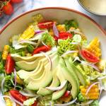 SUMMER CORN TOMATO AND AVOCADO SALAD